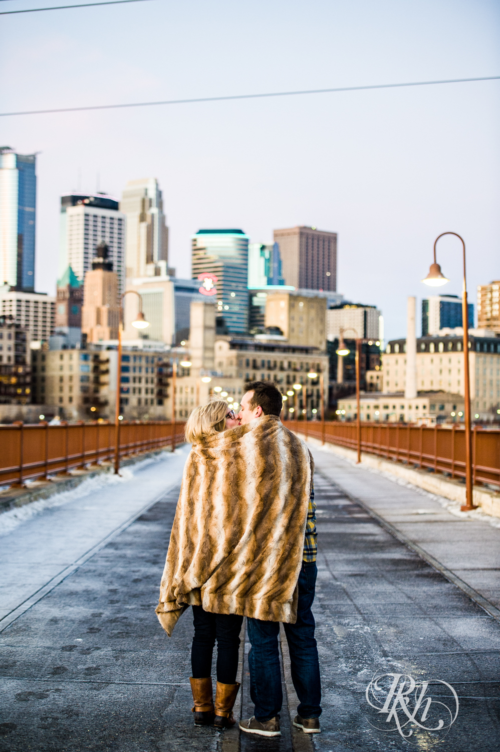 Kate & Kyle - Minnesota Sunrise Engagement Photography - Stone Arch Bridge - RKH Images (7 of 18).jpg