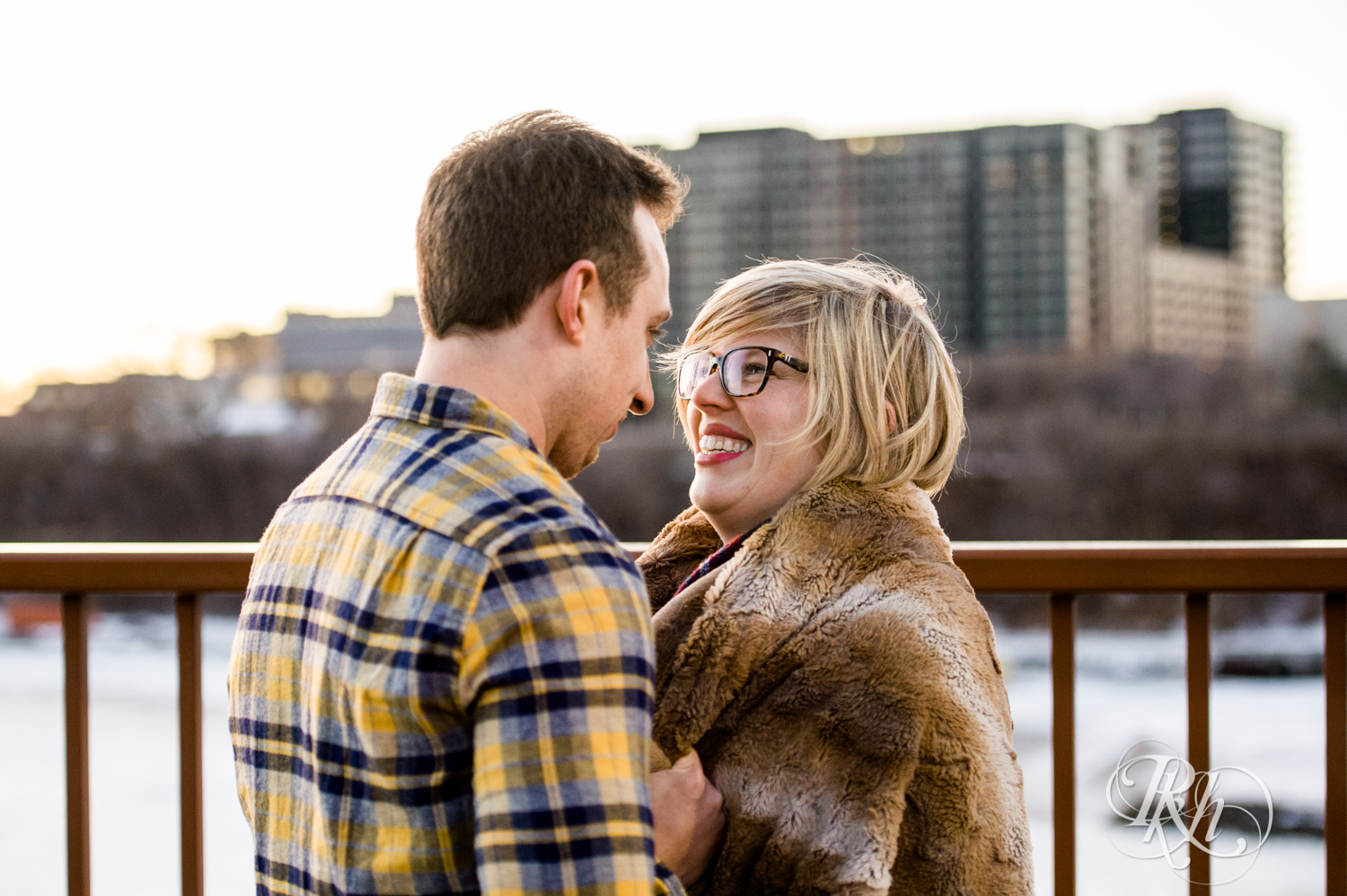 Kate & Kyle - Minnesota Sunrise Engagement Photography - Stone Arch Bridge - RKH Images (8 of 18).jpg