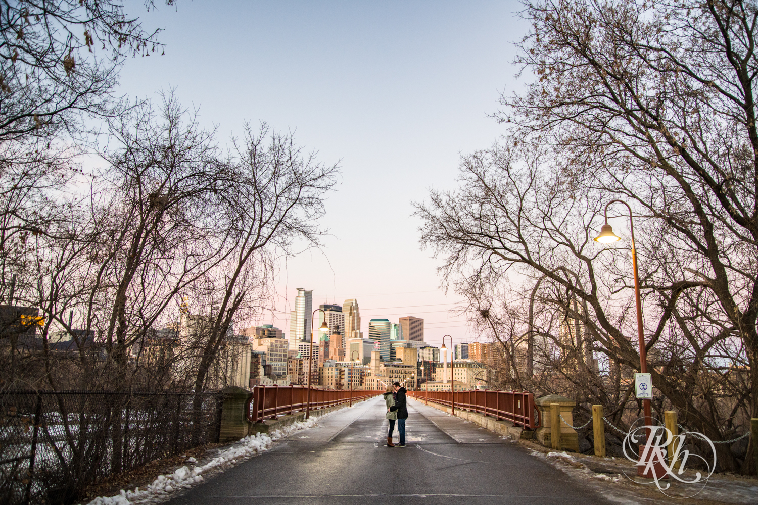 Kate & Kyle - Minnesota Sunrise Engagement Photography - Stone Arch Bridge - RKH Images (9 of 18).jpg
