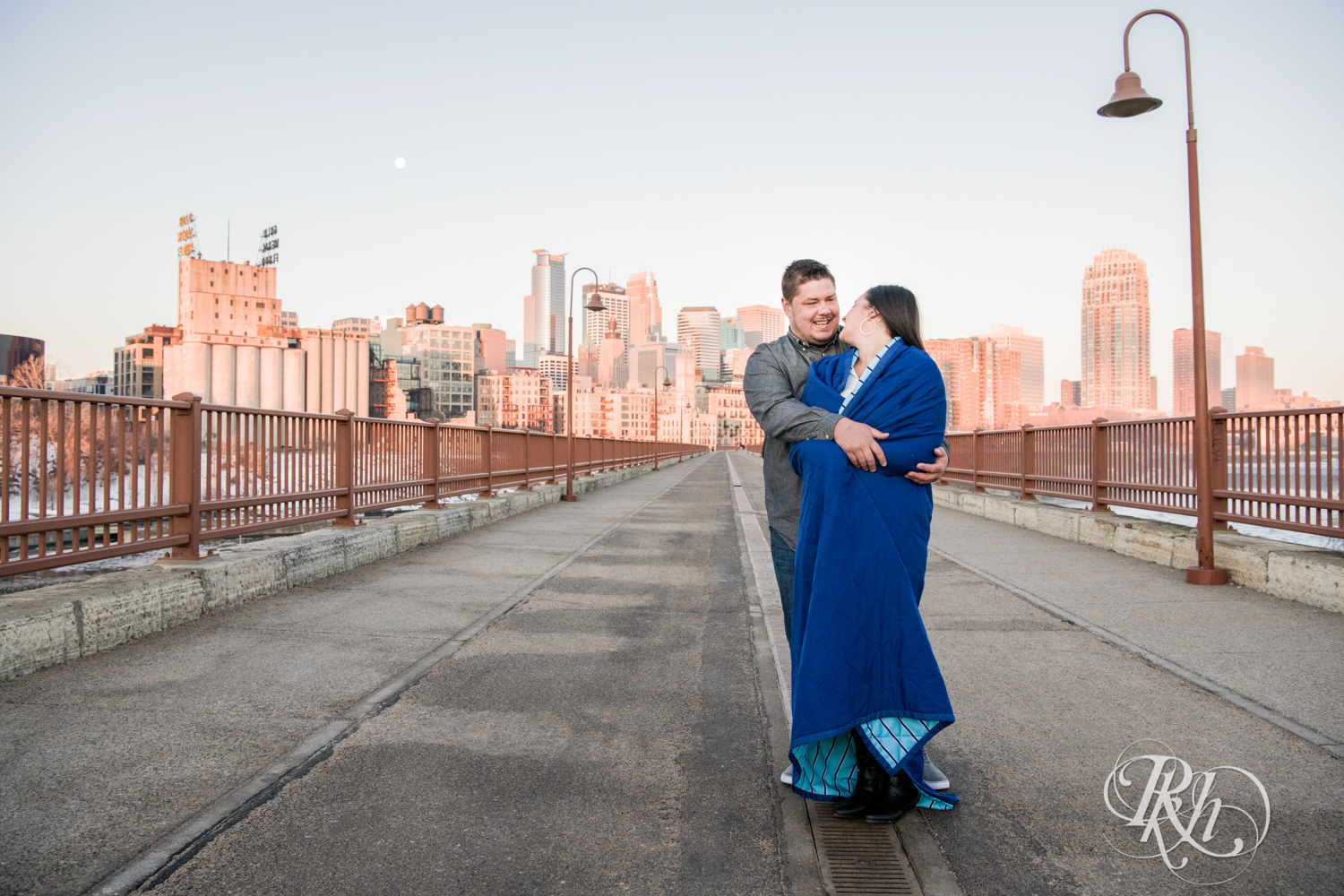 Jolene & Mike - Minnesota Engagement Photography - Sunrise - Stone Arch Bride and St. Anthony Main - RKH Images  (4 of 12).jpg