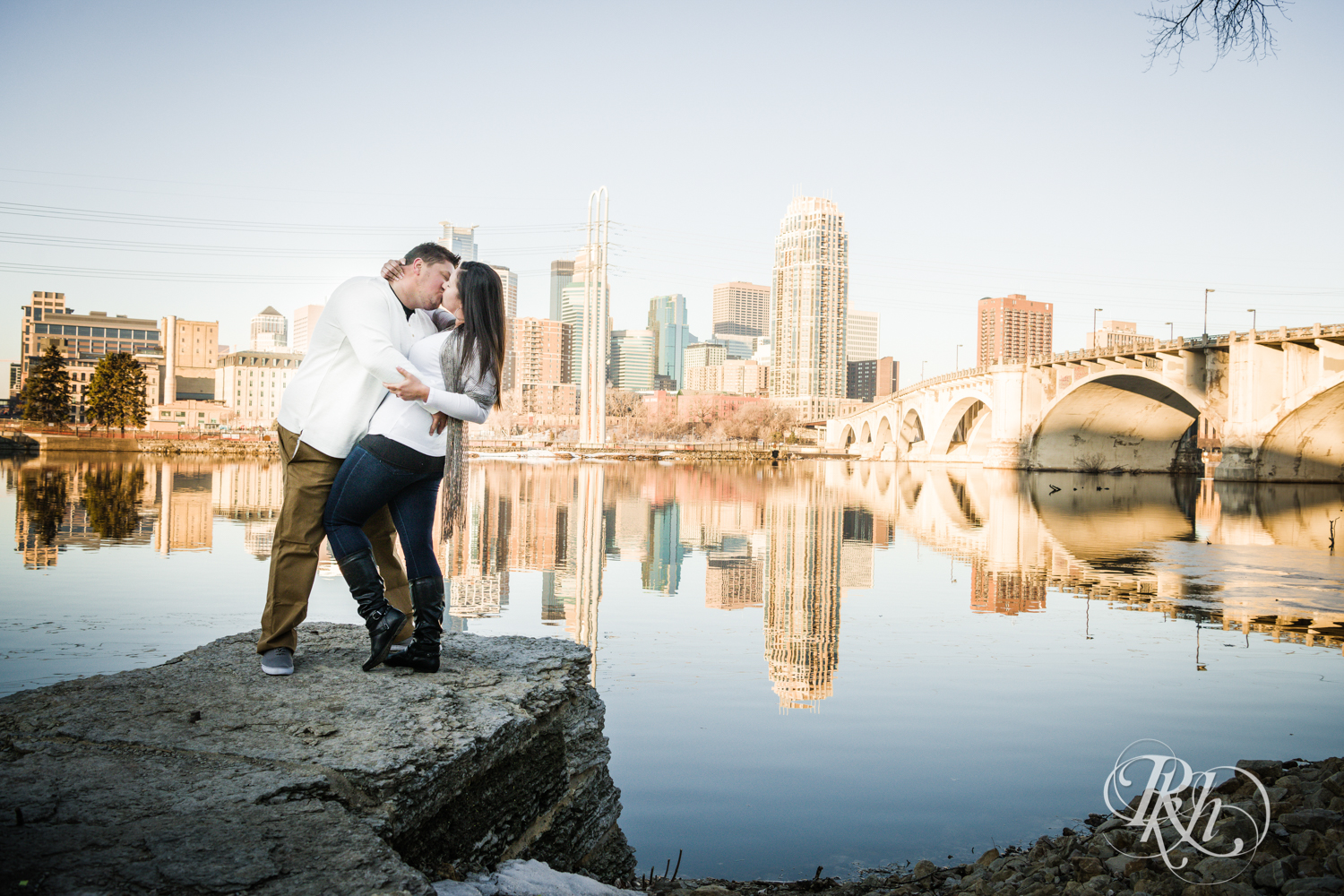 Jolene & Mike - Minnesota Engagement Photography - Sunrise - Stone Arch Bride and St. Anthony Main - RKH Images  (8 of 12).jpg