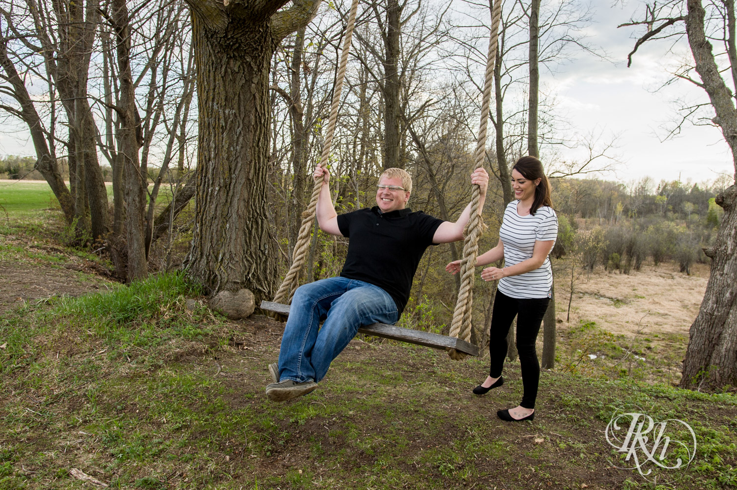 Chelsey & Erik - Minnesota Engagement Photography - Creekside Farm and Events - Rush City - RKH Images  (16 of 18).jpg