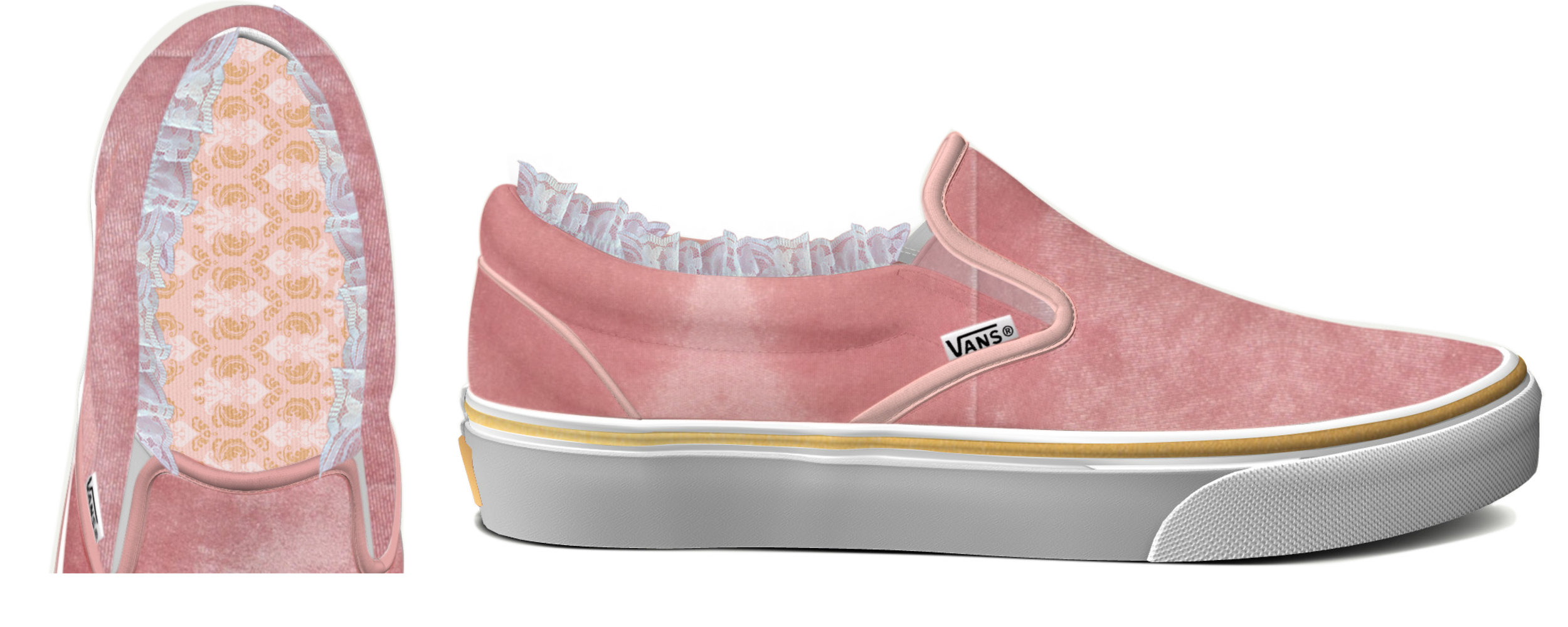 Velvet slip on