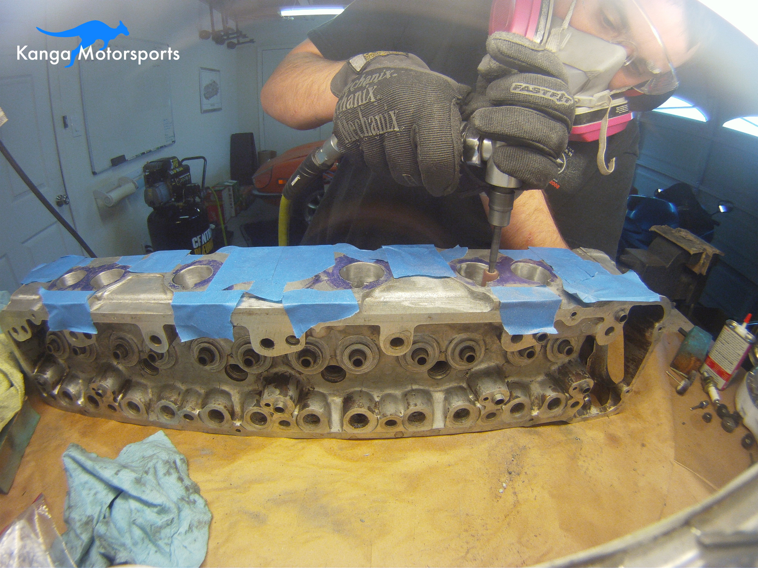 Datsun 240z N42 Cylinder Head Intake Port Matching.JPG