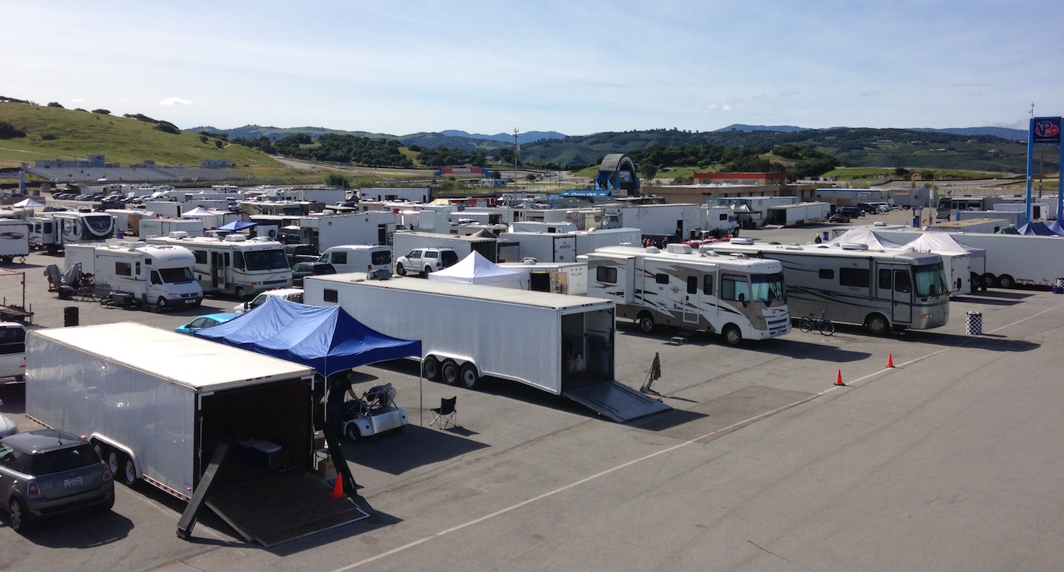 Amongst all these trailers are lots of race cars to admire and racers to talk too (Photo: SCCA San Francisco Region)