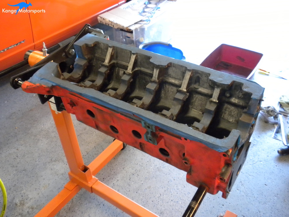 Engine Block Modifications Sanding Down the Casting Finish 2.JPG