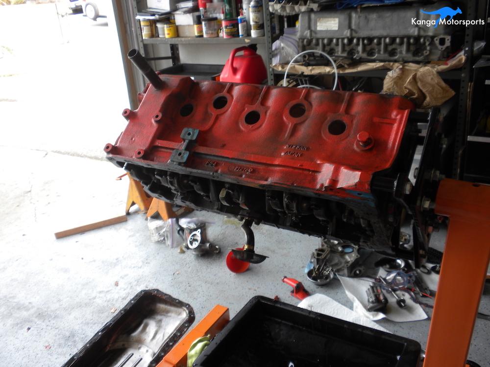 Datsun Engine Disassembly Engine Block Dirty.JPG