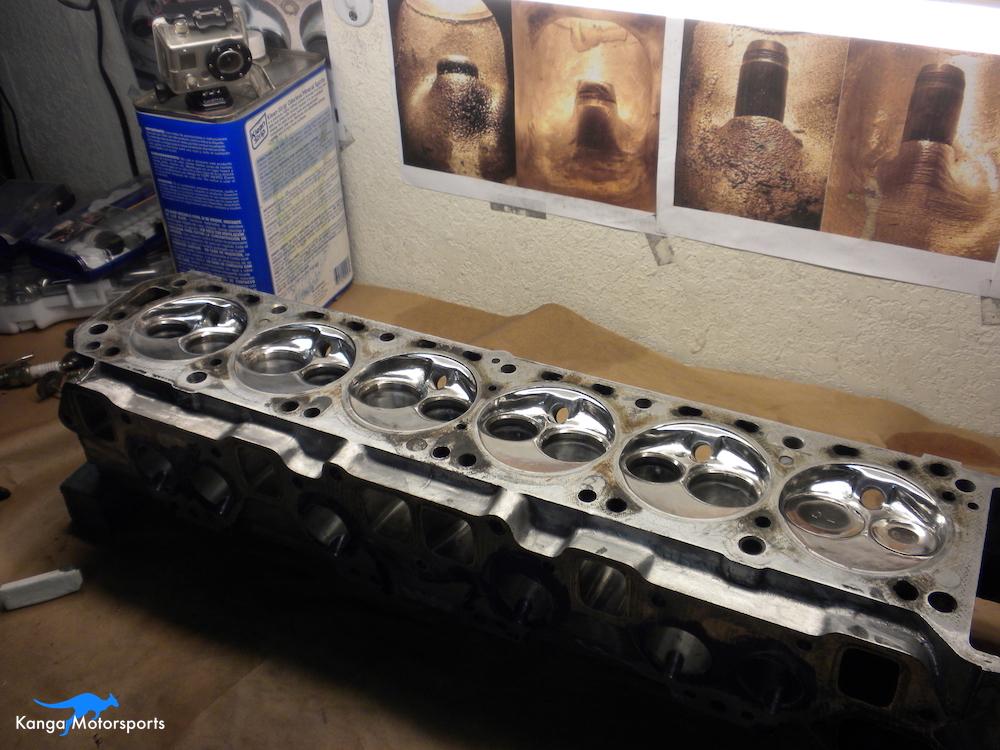 Datsun Cylinder Head Shiny Chambers 1.JPG