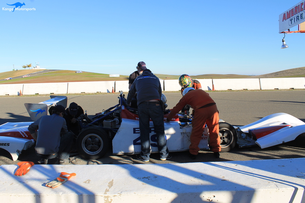 Quick pedal change during the NASA 25 Hours of Thunderhill