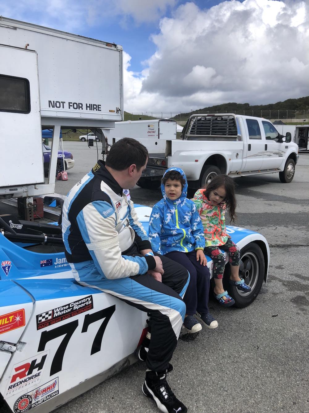 Kanga Motorsports Spec Racer Ford Laguna Seca 2018 Talking to Fans.JPG