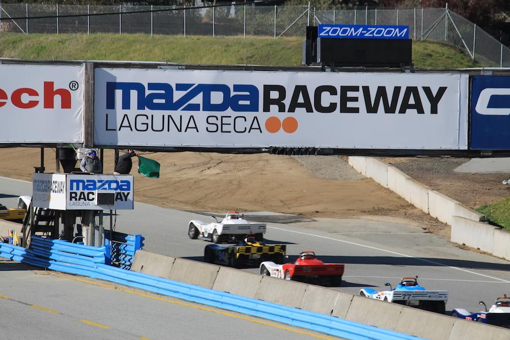 Kanga Motorsports Spec Racer Ford Laguna Seca 2018 Race 2 Start.JPG