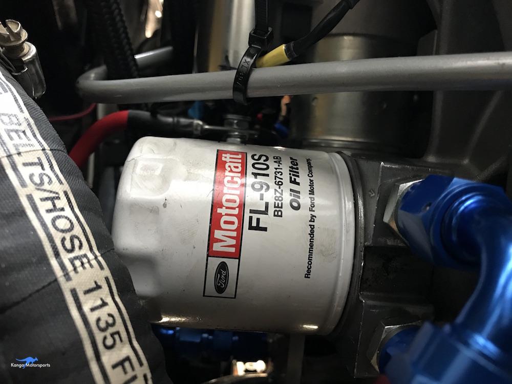 Kanga Motorsports Spec Racer Ford Gen3 Oil Change Filter Interferes with Fuel Hose.jpg