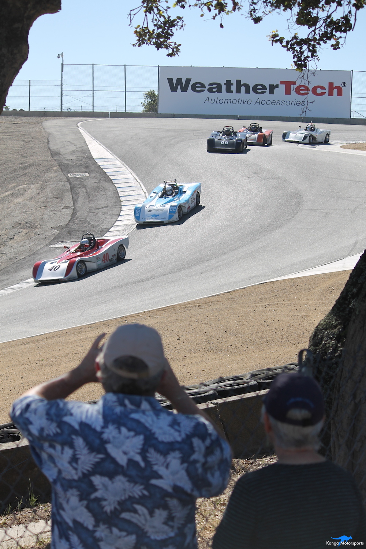 Kanga Motorsports WeatherTech Raceway Laguna Seca Spec Racer Ford Gen3 Corkscrew Onlookers.JPG