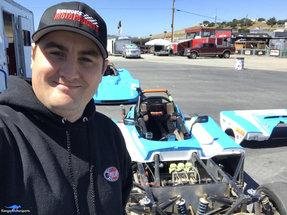 Kanga Motorsports WeatherTech Raceway Laguna Seca Spec Racer Ford Gen3 Trackside Maintenance.JPG