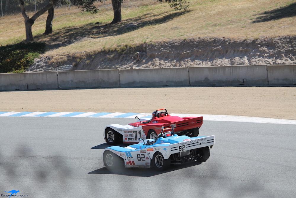 Kanga Motorsports WeatherTech Raceway Laguna Seca Spec Racer Ford Gen3 Race 8 Battle.JPG
