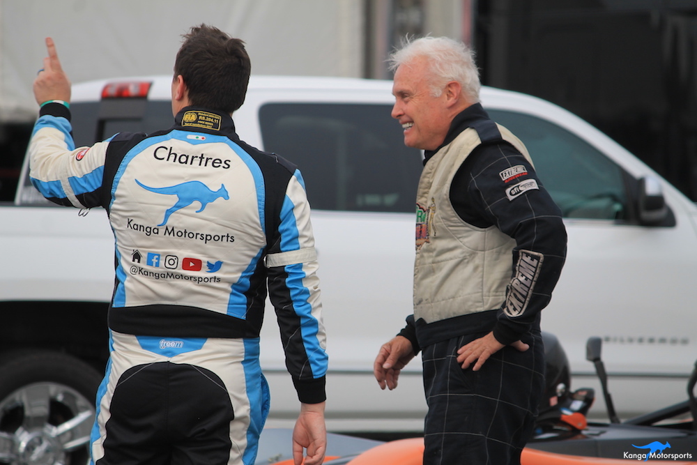 Kanga Motorsports 2018 WeatherTech Raceway Laguna Seca  Spec Racer Ford Gen3 Joking with Charlie.JPG