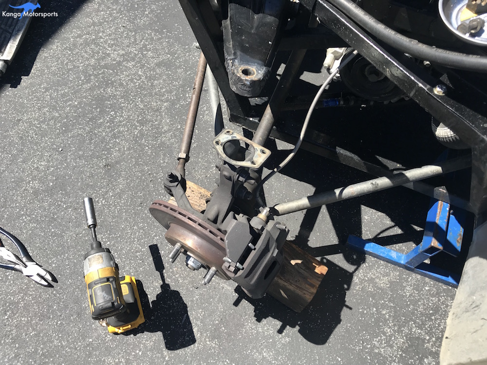 Kanga Motorsports Spec Racer Ford Gen3 Upper Ball Joint Replacement Remove Old Upper Ball Joint.JPG