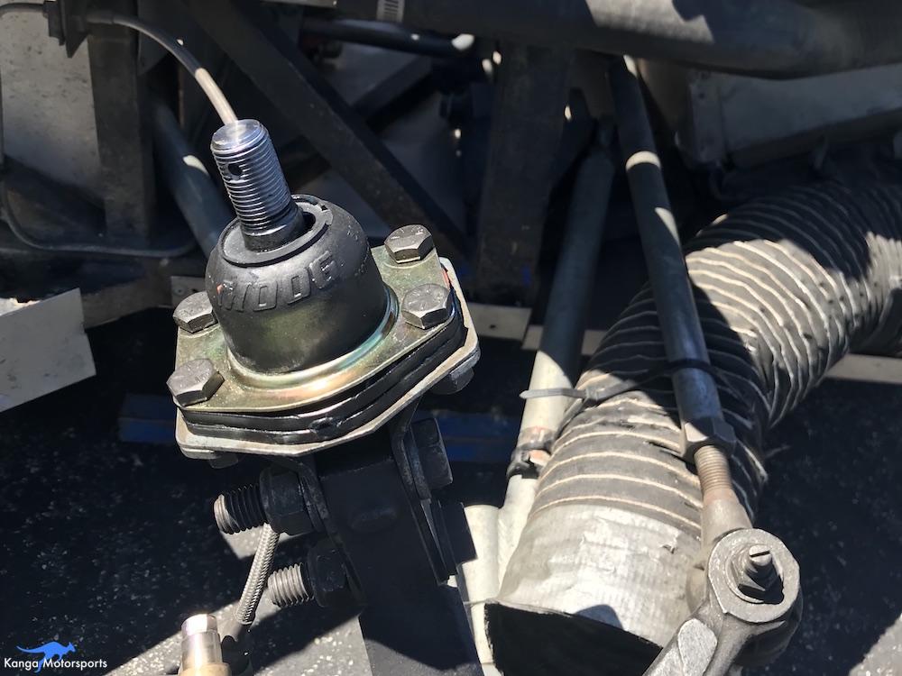 Kanga Motorsports Spec Racer Ford Gen3 Upper Ball Joint Replacement Tighten the Lower Fastener.JPG