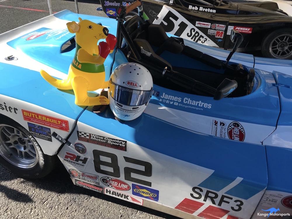 Kanga Motorsports SCCA Runoffs Spec Racer Ford Gen3 Fighting Kangaroo & Helmet.JPG