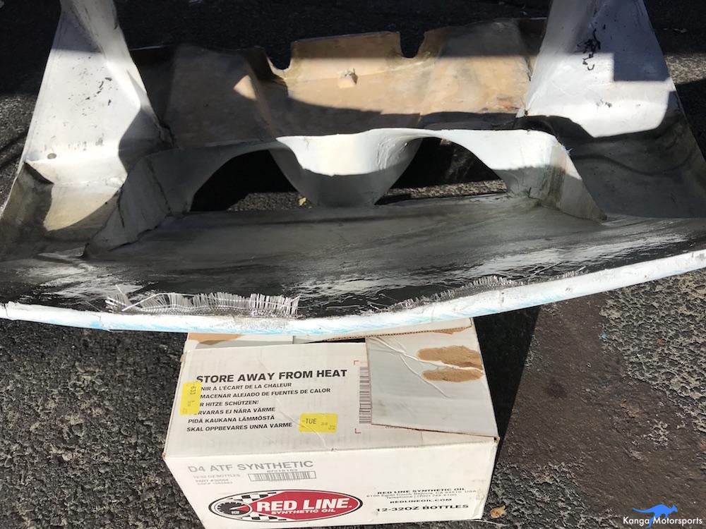 Kanga Motorsports SCCA Runoffs Spec Racer Ford Gen3 Sonoma Raceway Trackside Fiberglass Repair.JPG