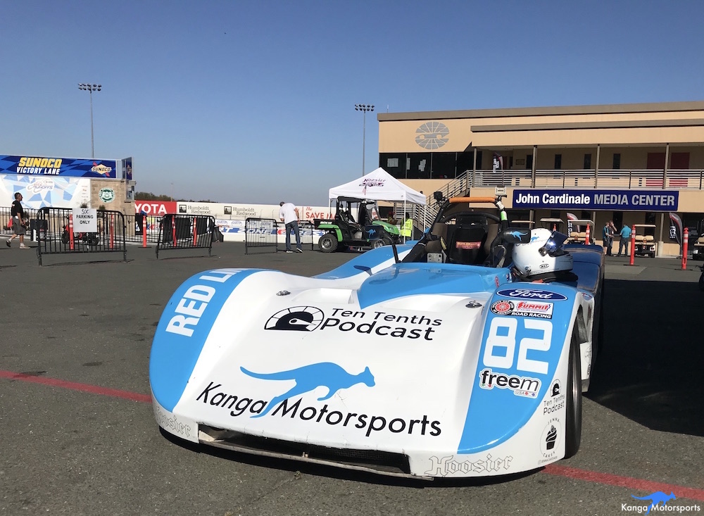 Kanga Motorsports SCCA Runoffs Spec Racer Ford Gen3 Sonoma Raceway Qualifying 3 Pulled into Impound.JPG