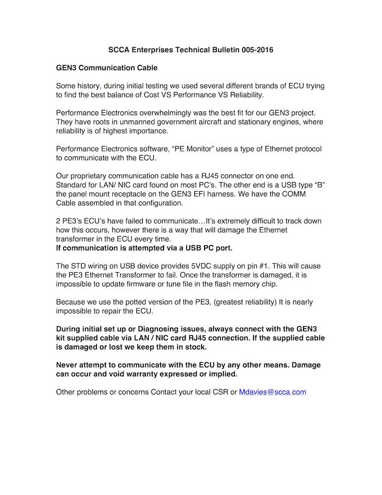 TB 005-2016 Gen3 Comm Cable