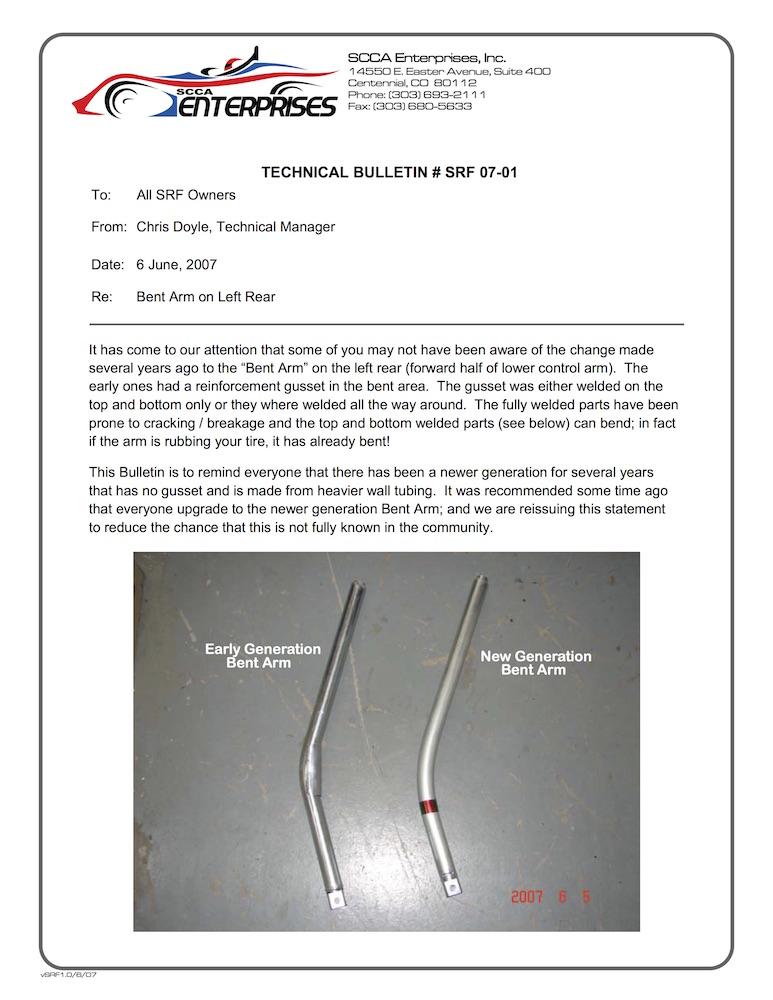 TB 07-01 Bent Arm