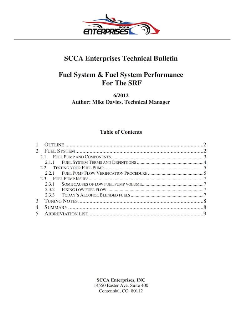 TB 006-2012 Fuel System