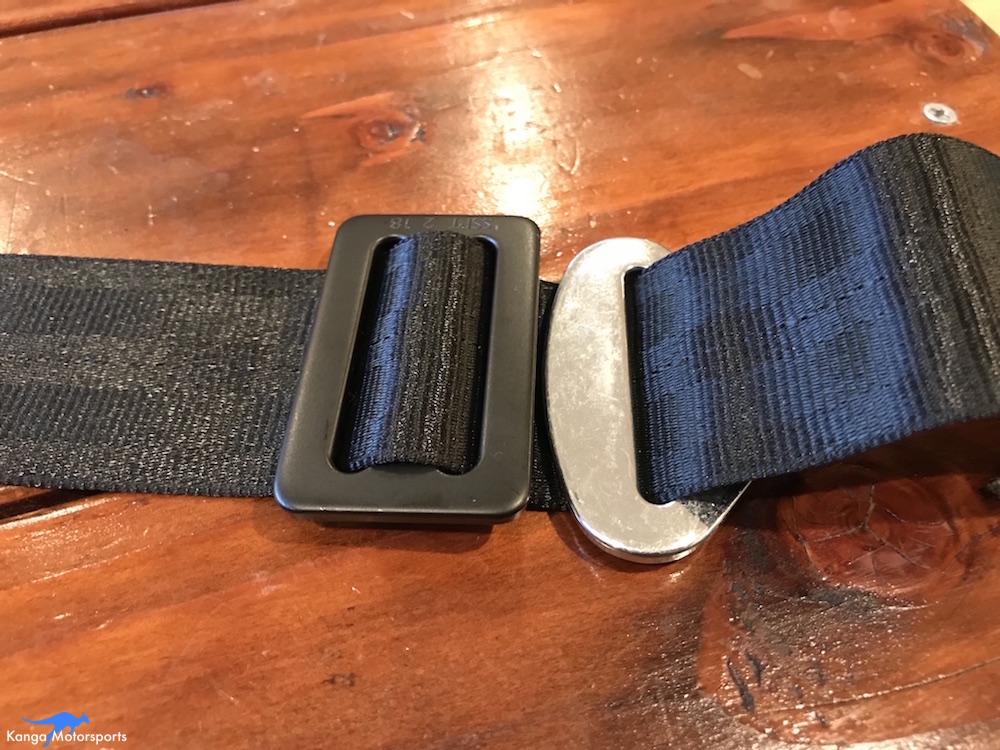 Kanga Motorsports Seat Belts Lap Rewebbing Mount Part 4.JPG