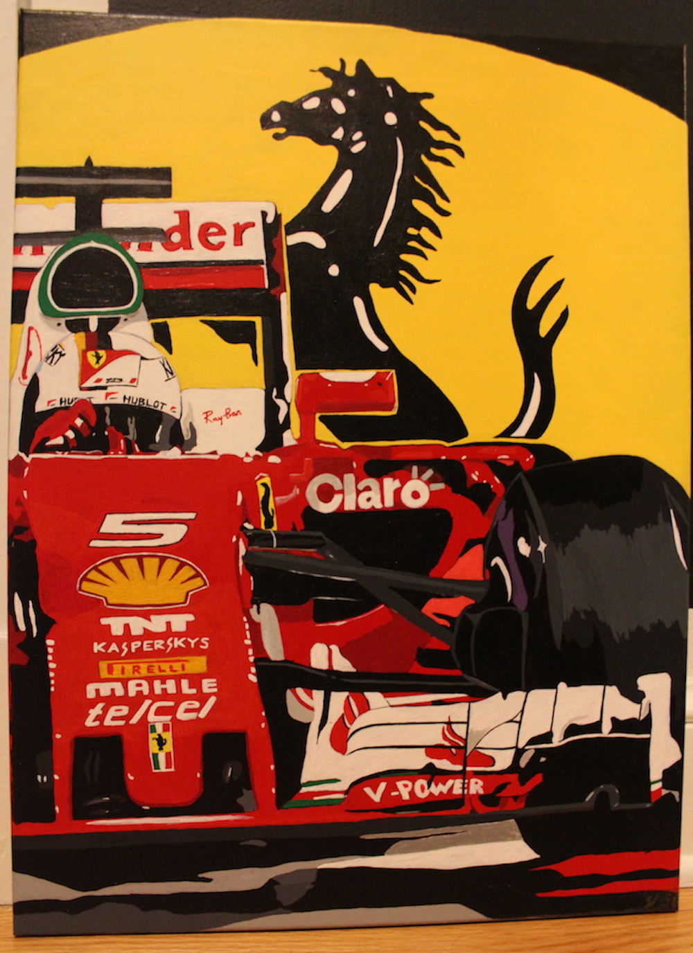 Vettel Ferrari Eyes Up Auto Art Example 2.JPG