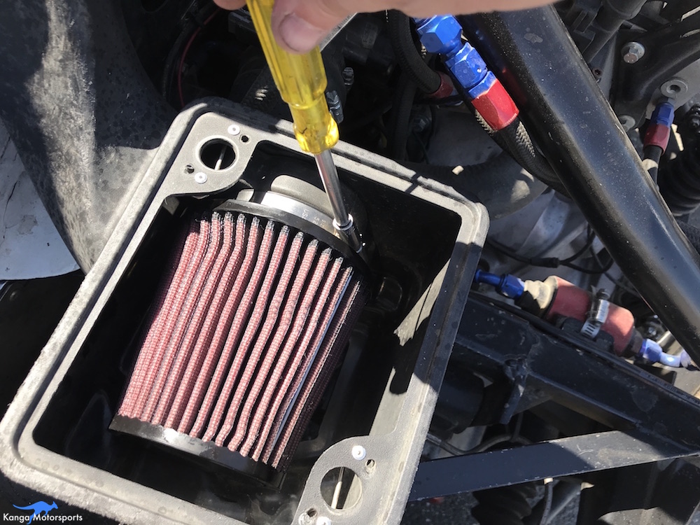 Kanga Motorsports Spec Racer Ford Gen3 Air Filter Maintenace Install Tighten Clamp.JPG