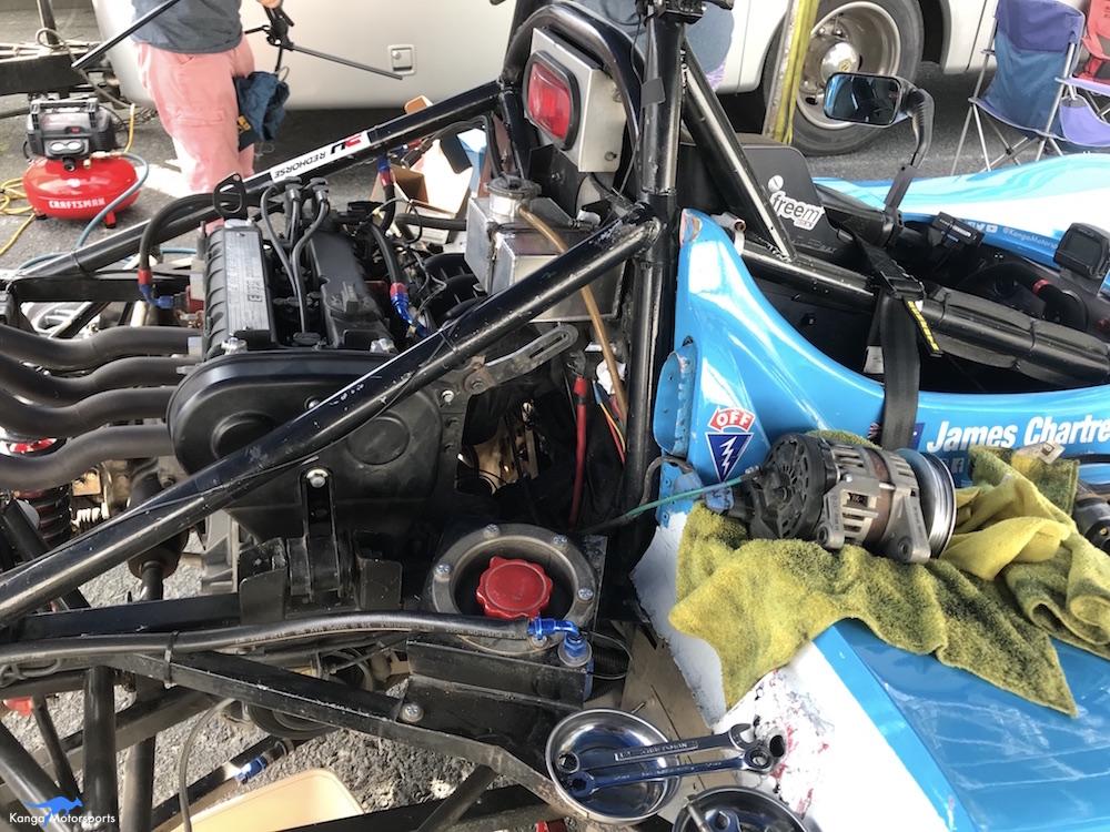 Kanga Motorsports Spec Racer Ford Gen3 Sonoma Raceway Races 9 & 10 Removing Alternator.JPG