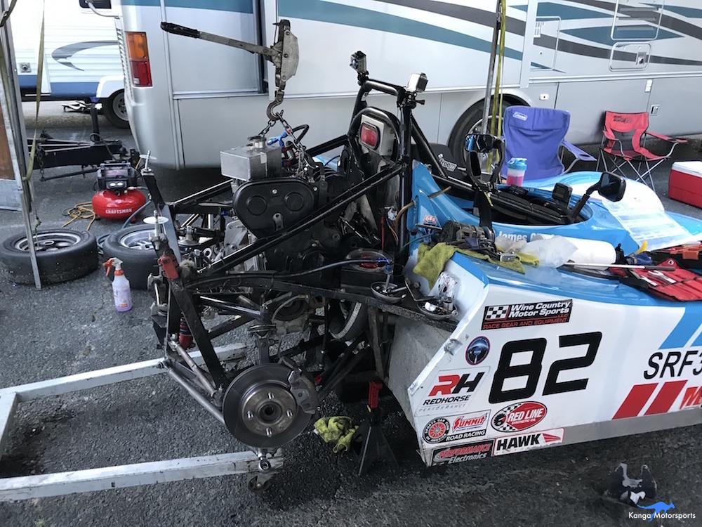 Kanga Motorsports Spec Racer Ford Gen3 Sonoma Raceway Races 9 & 10 Removing the Motor.JPG