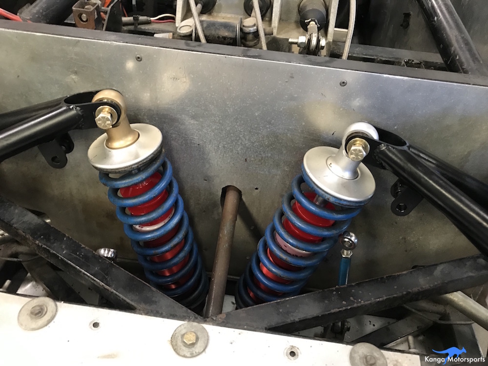Kanga Motorsports New Penske Racing Shocks Install Front Suspension.JPG