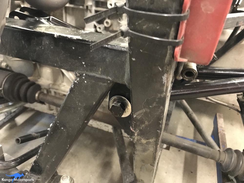 Kanga Motorsports Spec Racer Ford Gen3 New Tubular Rocker Install Slide Pivot Bolt In Place.JPG
