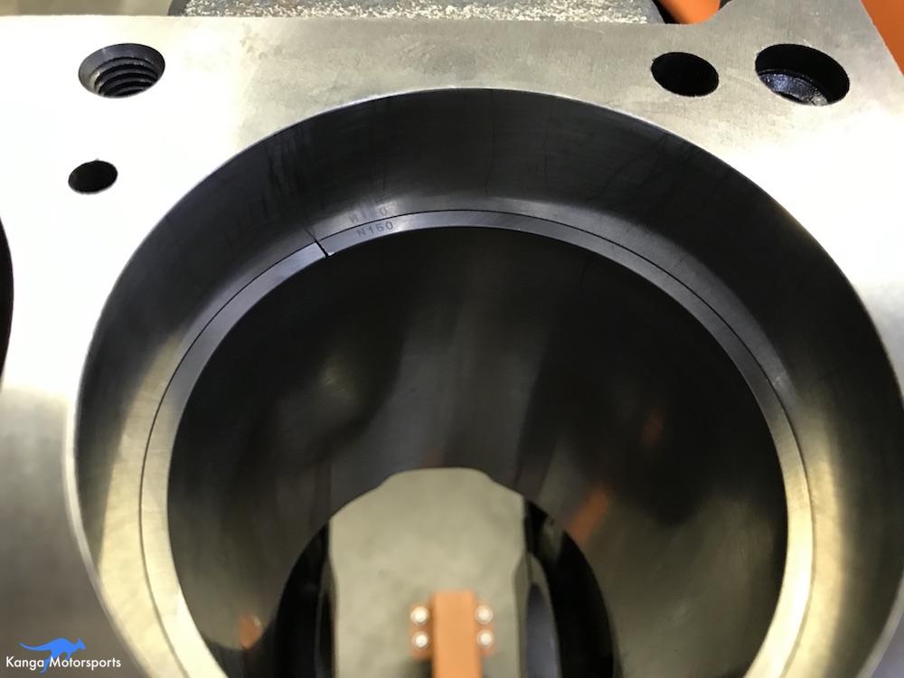 Kanga Motorsports Datsun 240z Engine Build Piston Ring Gap Up Close.JPG