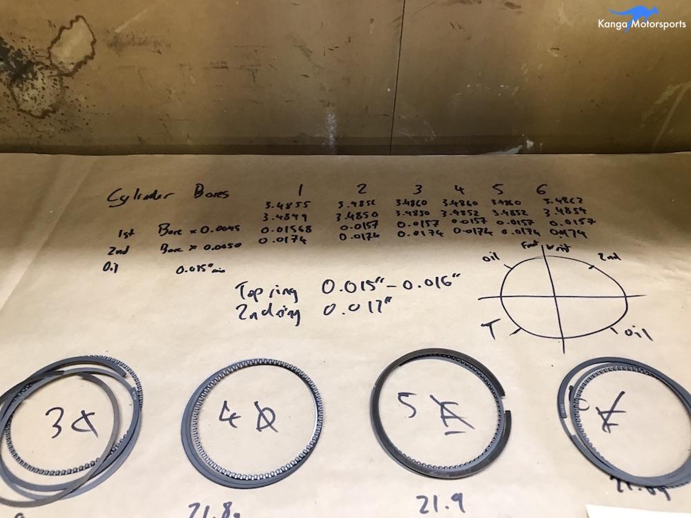 Kanga Motorsports Datsun 240z Engine Build Piston Ring Gap Piston Bore Data.JPG