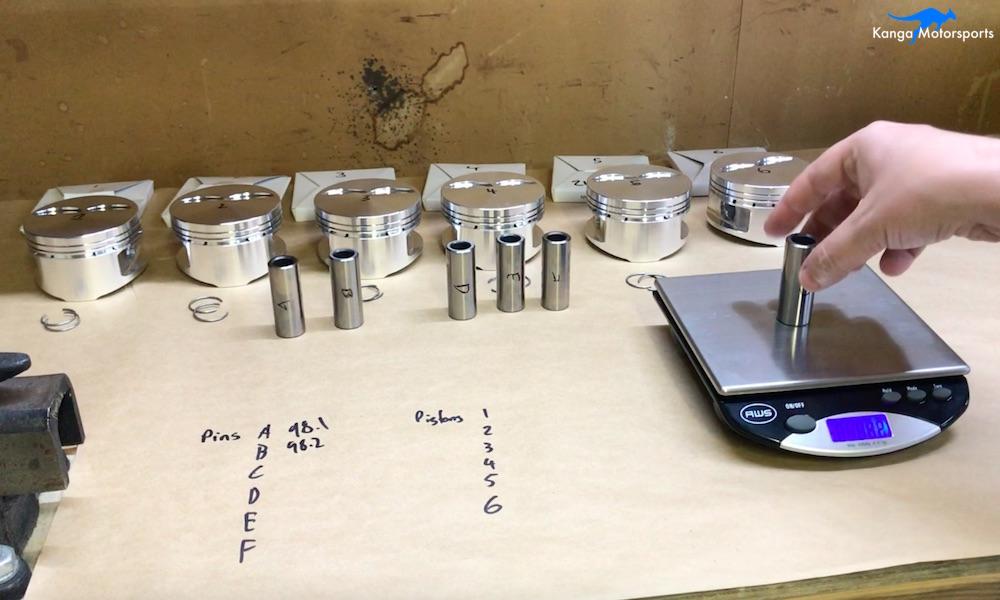Kanga Motorsports Datsun 240z Engine Build Piston Balancing Weighing Gudgeon Wrist Pins.jpg