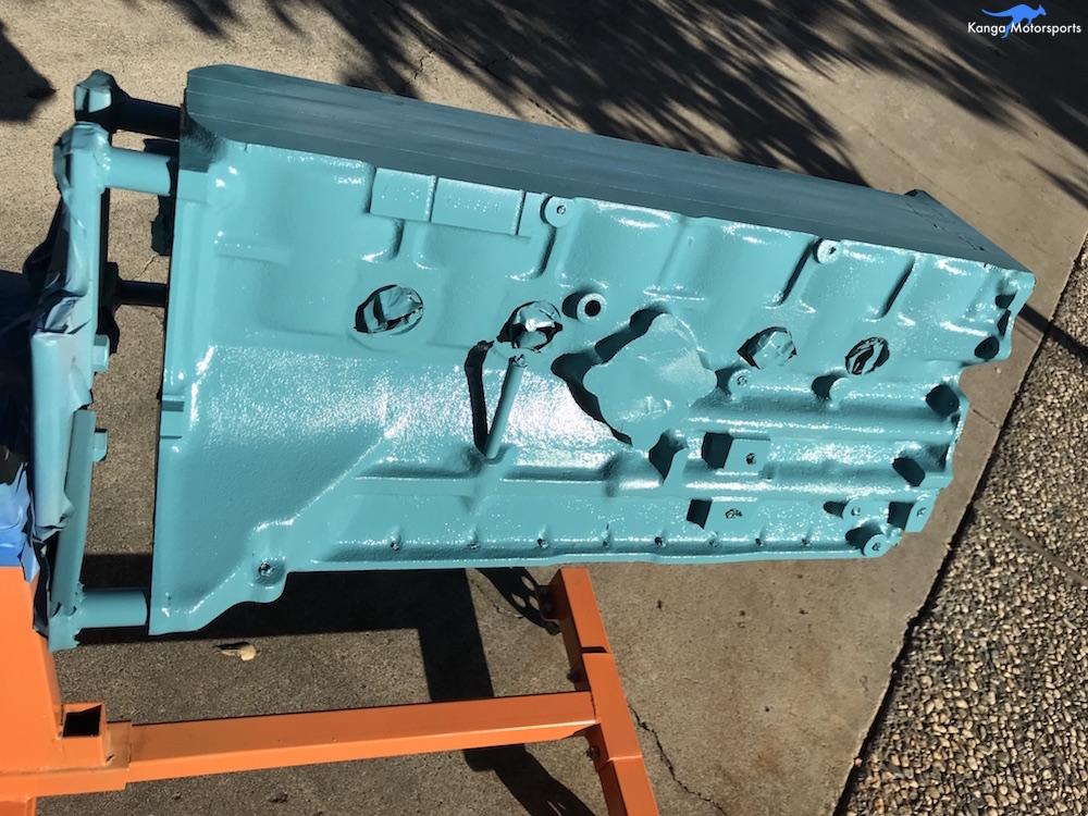Kanga Motorsports Datsun 240z Engine Build Painting the Engine Block Final Coat.JPG