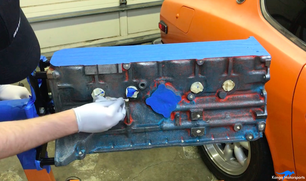 Kanga Motorsports Datsun 240z Engine Build Painting the Engine Block Wax and Grease Remover.jpg