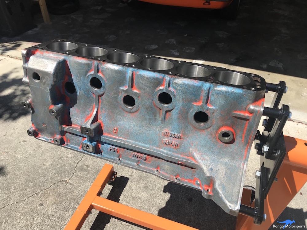 Kanga Motorsports Datsun 240z Engine Build Painting the Engine Block Cleaning.JPG