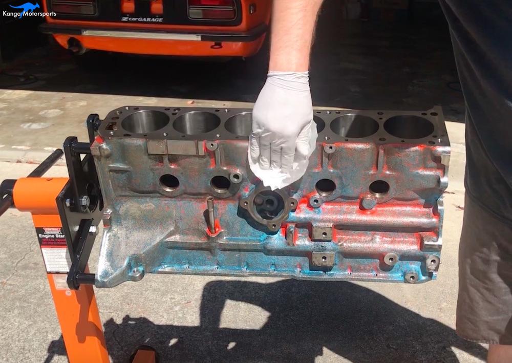 Kanga Motorsports Datsun 240z Engine Build Painting the Engine Block Wipe Down.jpg