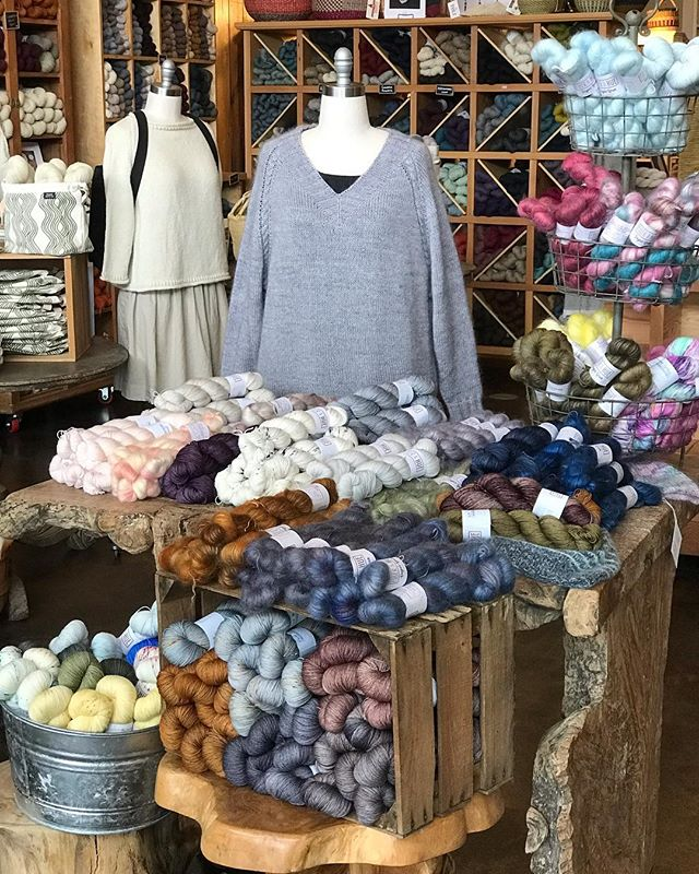 Tolt Yarn and Wool is hosting a Fiber and Hue PopUp Shop!  If you're in the Seattle area and can make it out, please stop in and squish some!  I've brought my Well Rounded Fingering Weight, Go To DK and Sugar Spun.  There are also some Soldotna Bundles.  In the meantime, the online shop is on Spring Break and will be back up next week!  Hope you get the chance to come out and see it in person! . #mohairyarn #knitting #knittersofinstagram #fiberandhue #knitstagram #knit #yarn #handdyedyarn #popupshop #toltyarnandwool @toltyarnandwool @toltknits