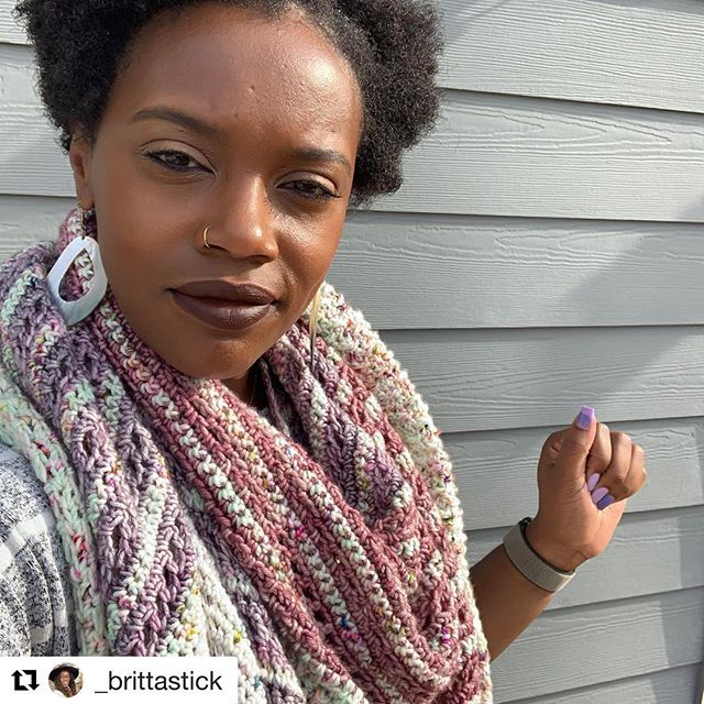 This Bronwyn shawl by @_brittastick has got me feeling all the spring vibes!! She used some OOAK skeins on Go To DK and they blend so well!  #Repost @_brittastick with @get_repost ・・・ It has been weeks since I finished my #bronwynshawl but the sun has been acting real flighty in Seattle! Here she is in all her glory, my 4 color Bronwyn! // 📋: BronwynShawl by @tlyarncrafts 🧶: @fiberandhue // #yarninspiration #tlycmakers #afteryarnglow #crochet #blackgirlscrochet #MakersofColorCollective #bhooked #crochetersofinstagram #crochetersofig #hiravelry #ravelry #wecrochettoo #blackgirlmagic #4chair #naturalista #seattlemakers #seattlecrocheters #handmade #shawl #glossier #stashbusting #bronwynshawlcal