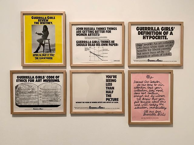 @guerrillagirls, Nan Goldin and Maria Helena Vieria de Silva