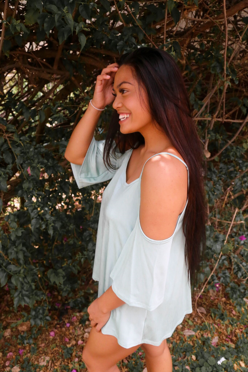 We've also got it in the latest color trend, sage. It's gorgeous on any skin tone.
