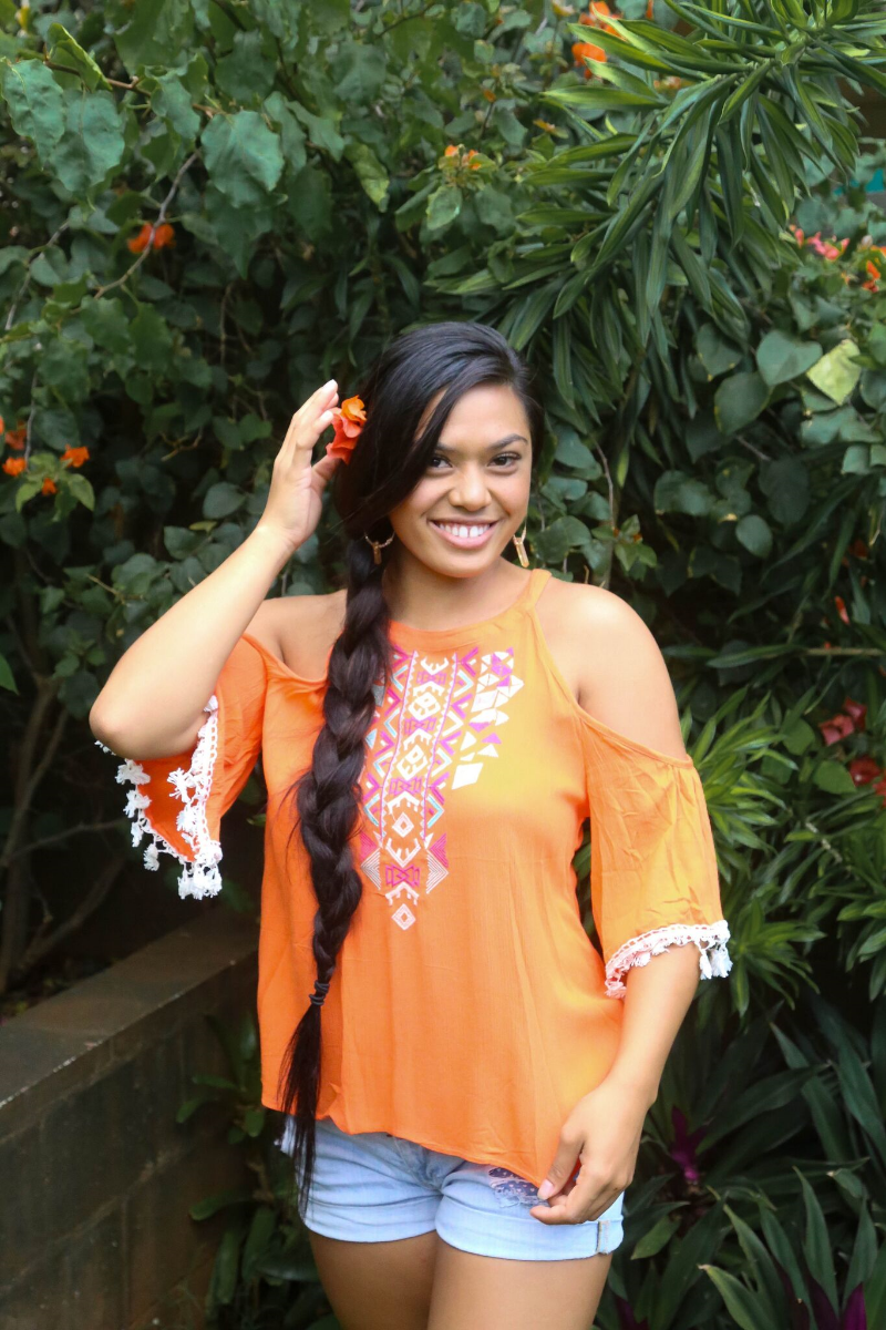 Wear a bright cold shoulder for an even bigger statement!