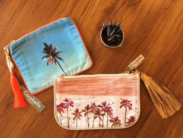 "A few more styles by Cocobella.  These are the ""clutch"" and ""linen clutch"" styles.  Smaller than the pouch but great for makeup, or if you're the minimal kinda gal, this size is perfect!"