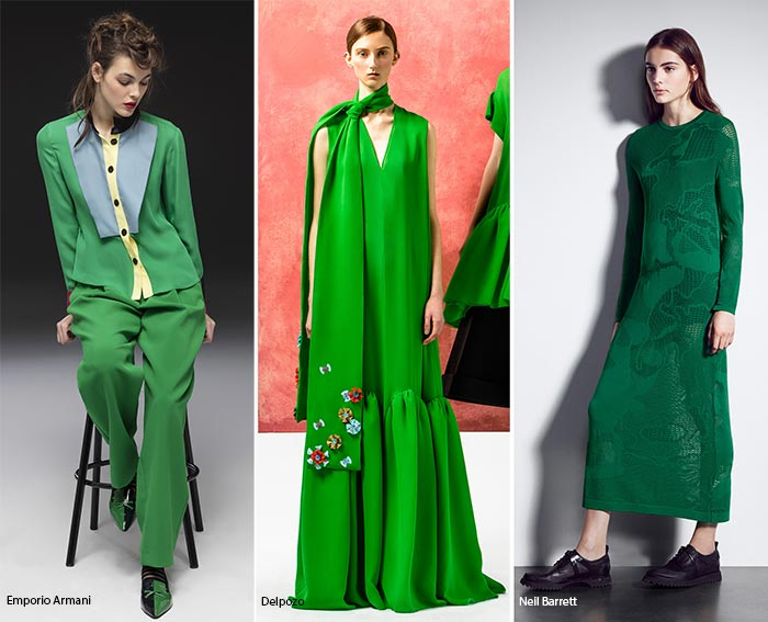 Green with envy! Here you'll see the different saturation's of green. For Fall, you can be classic in Olive, trendy in Kelly, or cool and chic in Forest.