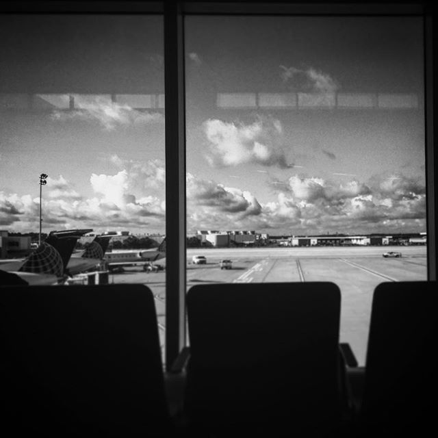 Waiting for my flight to Lafayette, Louisiana.